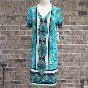 NWT London Times Floral Short Sleeves Dress 6
